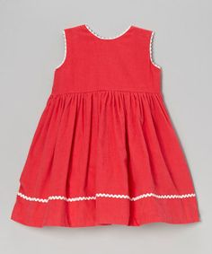 This Pink Cross-Back Corduroy Dress - Infant, Toddler & Girls is perfect! #zulilyfinds