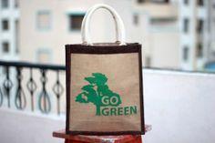 Jute Tote Bag/Go Green Jute Bag/Medium Tote Bag/Beach Bag/Summer Tote Bag/Organic Jute Bag/Mother's Day Gift/Gift under 15/Bridesmaid Gift