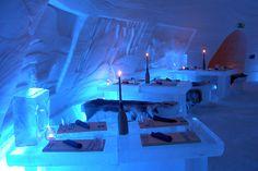 Laino Snow village restaurant in Finland