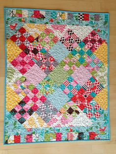 Mary on Lake Pulaski: It's A Hoot Hat Trick Scrappy quilt