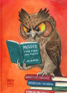 Owls love to read and fill their minds with knowledge