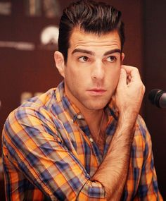 Zachary Quinto. I haven't seen Star Trek and didn't know who the hell this guy was, but he's so pretty.