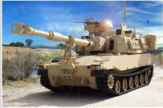 The U.S.Army's new 155mm SP Howitzer, the M109 A7 (PIN) ''PALADIN'' They plan to acquire 580 ''sets'',each of whch will be a SP Howitzer and a M992 A3 Carrier Ammo Tracked (CAT). Full scale production from 2017. photo from the Brigade Facebook page