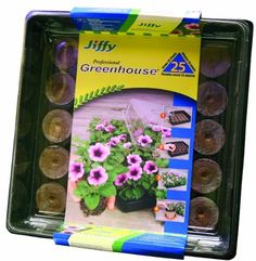 Jiffy 5032 Professional Greenhouse 25-Plant Starter Kit by Jiffy. $8.34. Made from recyclable plastic. High-quality peat moss. Greenhouse Gardening. Indoor Gardening. 25 Plant Greenhouse Garden