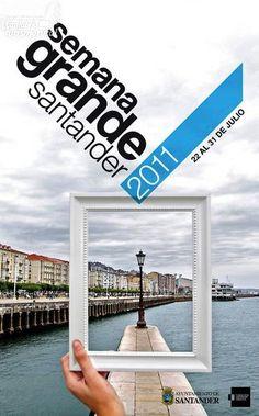 Cartel Semana Grande y Fiestas de Santiago de SANTANDER 2011