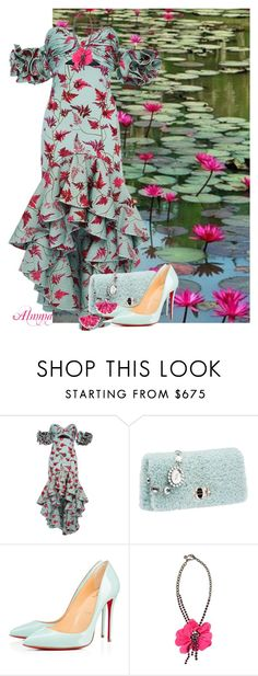 """""""Untitled #1263"""" by almma ❤ liked on Polyvore featuring Johanna Ortiz, Lanvin and Aurélie Bidermann"""