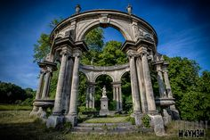 The abandoned Castle Franconville (Château de Carnelle) located on the edge of the forest Carnelle, Saint Martin du Tertre in the Ile de France region of France. Building began in 1876 and was closed in 1992.