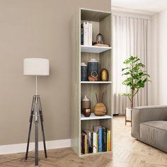 vidaXL Bibliotecă/Comodă TV, negru lucios, 36 x 30 x 143 cm, PAL Cube Bookcase, Bookshelves, Book Cabinet, Sonoma Oak, Book Racks, Wood Dust, Love Your Home, Tv Cabinets, Chipboard
