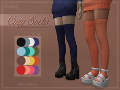 Knitted, thigh-high socks.  Found in TSR Category 'Sims 4 Female Leggings'