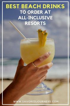 36 Best Beach Drinks to Order at All-Inclusive Resorts (+ Recipes!) Best Beach Drinks to Order at All-Inclusive Resorts Beach Drinks, Summer Drinks, Fun Drinks, Refreshing Drinks, Cocktail Drinks, Alcoholic Drinks, Party Drinks, Pool Drinks, Cocktail Recipes