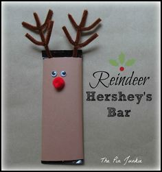 Make a reindeer from a Hershey's candy bar.  Easy and would make nice little…