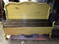 Bed Into Bench By Rescued Furnishings - Featured On Furniture Flippin'