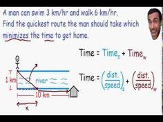Optimization is explained completely in this calculus video. In this example we maximize profit using optimization. Math Meeting, Calculus, How To Get, River, Education, Teaching, Onderwijs, Rivers, Learning