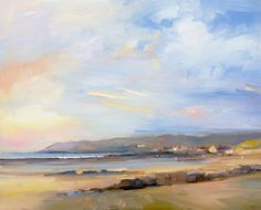David Atkins: Evening Sky, Croyde Bay, Devon Campden Gallery, fine art, Chipping Campden, camden gallery, contemporary, contemporary arts, contemporary art, artists, painting, sculpture, abstract painting, gloucestershire,  cotswolds, painting for sale, artwork for sale, modern art gallery, art exhibitions,arts gallery, gallery art, art gallery UK
