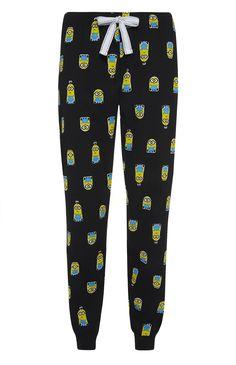Primark - Black Minions Cuff PJ Trousers