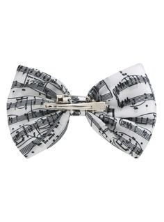LOVEsick Music Note Hair Bow | Hot Topic I have no clue which fandom this is from but I don't care. I want it because it's bandy!