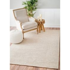 nuLOOM Handmade Flatweave Contemporary Solid Cotton Beige Rug (7'6 x 9'6) | Overstock.com Shopping - The Best Deals on 7x9 - 10x14 Rugs