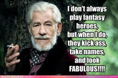 Ian McKellen- everyone looks cool in a smoking jacket Robert Rauschenberg, Edie Sedgwick, Andy Warhol, Funny Celebrity Pics, Sir Ian Mckellen, You Shall Not Pass, J. R. R. Tolkien, Tolkien Quotes, Into The West