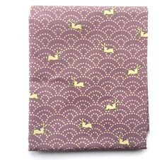 This is very cute fabric! There are many rabbits and (sea) waves (traditional Japanese symbol).   *************THESE ARE PRE CUT SO IF YOU BUY