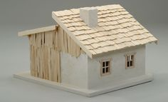 Alpenland-Krippe basteln: Schritt 35 von 42 Wooden Dollhouse, Fairy Houses, Dremel, Home Interior Design, Christmas Crafts, Bird, Outdoor Decor, Home Decor, Polymers