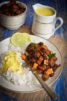 Erachi Ullarthiyadu / Traditional Kerala Style Spiced Beef Roast with Coconut
