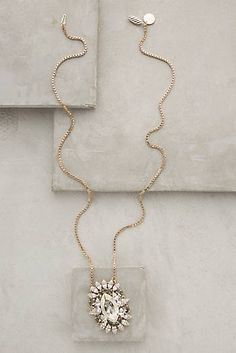 Crystal Cluster Pendant Necklace - is that on top of concrete?  That would be AWESOME!