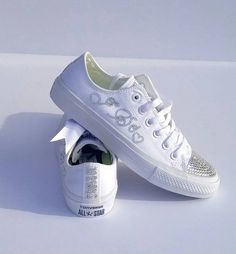 Bridal converse bridal gift bridal sneakers bling by AllureDesignz