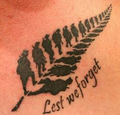 Least we forget tattoo defiantly my next one.