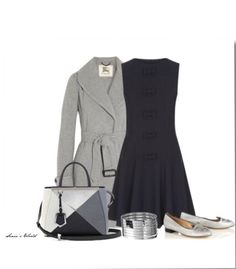 Black and grey date night outfit