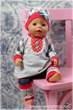 Freebook Puppenliebe Ballontunika Feli mit Kapuze Gr 36 und 43 ♥