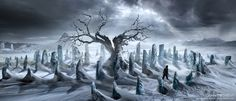 Concept art of the sixth season of Game of Thrones: WeirWood (by Karakter…