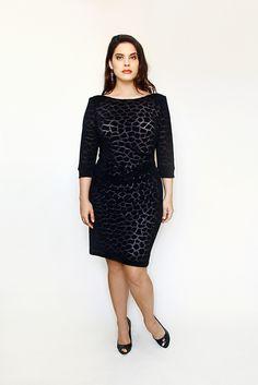 Animal Knit Burnout Dress