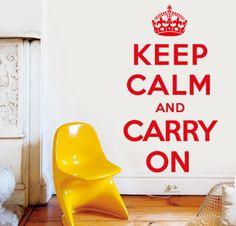 KEEP CALM 1 http://www.myvinilo.com/vinilos-decorativos-textos/keep-calm-1.html Para los que necesitan un empujoncito. Vinilos decorativos, hogar, decoración, interiores, pared, diseño, wall decals, stickers, decoration, design, poetry, poesia, words, palabras, frases, dichos.