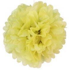 Pompon en papier 40cm jaune