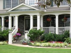 Our Front Yard, Front yard landscaping, containers, front porch, Front porch, Gardens Design