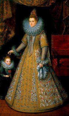 Isabelle-Claire-Eugénie, infante d'Espagne, archiduchesse d'Autriche, gouvernante générale des Pays-Bas, par Pourbus
