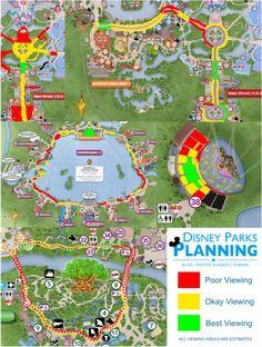 Disney Parks Planning: Parade & Firework Viewing at Walt Disney World