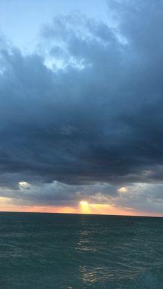 Sunset at lido beach