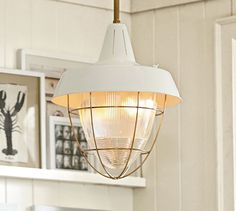I love this Vintage Kitchen Pendant from Pottery Barn.  Perfect for over the table in the breakfast nook. - Brought to you by LG Studio