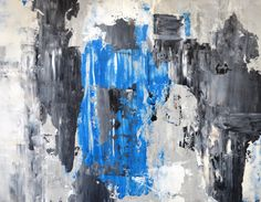 Blue Abstract Art Painting by T30Gallery