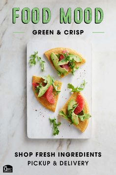 Socca with Grapefruit and Avocado Salad - - Socca with Grapefruit and Avocado Salad Pickup & Delivery Get in the mood for food! Mix things up in 2020 with a fruity, fresh recipe and fairly priced ingredients for everyone! Clean Recipes, Cooking Recipes, Salad Shop, Gluten Free Flatbread, Garbanzo Bean Flour, Healthy Snacks, Healthy Recipes, Snacks Recipes, Candy Recipes