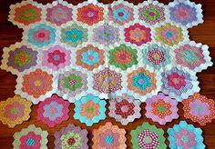 hexagon quilt love