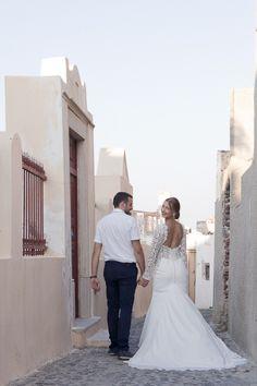 Honeymoon Photo Shoot in Oia Honeymoon Photography, Wedding Photography, Santorini Honeymoon, Santorini Photographer, Mermaid Wedding, Photo Shoot, Wedding Dresses, Fashion, Photoshoot