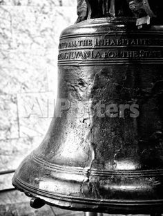 The Liberty Bell, Philadelphia, Pennsylvania, United States, Black and White Photography