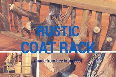 DIY Rustic Coat Rack Tutorial - Coat Rack Made From Tree Branches. See how: http://www.thesawguy.com/diy-rustic-coat-rack/