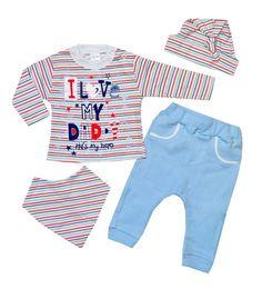 SVETLI Бебешки комплект Аз обичам тати 4 части - MiniMod