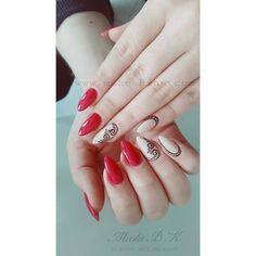#beautiful # #handpainted #red #and #nude #nails #done #for #my #lovely #friend #nailart #nailstagram #lovenails #lovedoingnails #swarovski #crystals #lovemywork #edinburgh #happy #shine #nailsalon #czerwone #reczniemalowane #paznokcie #kochamto