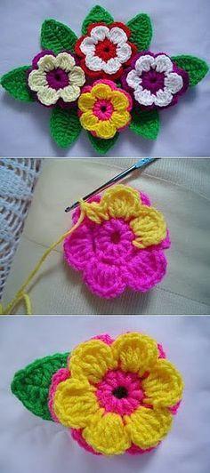 MK la flor por el gancho | Todo крючком.ру