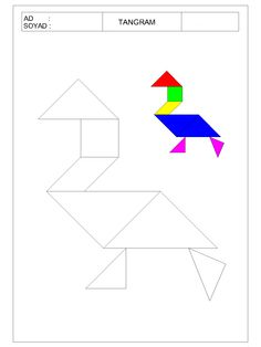 #tangram#kesyapıştır #okulöncesi Kindergarten Centers, Math Centers, Math For Kids, Fun Math, Preschool Learning, Teaching Math, Tracing Shapes, Addition Worksheets, Outline Drawings