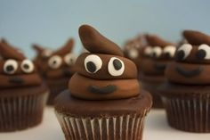 18 photos of cupcakes that look like poo (this is the cutest one) + one that looks like something else altogether different (ew!)